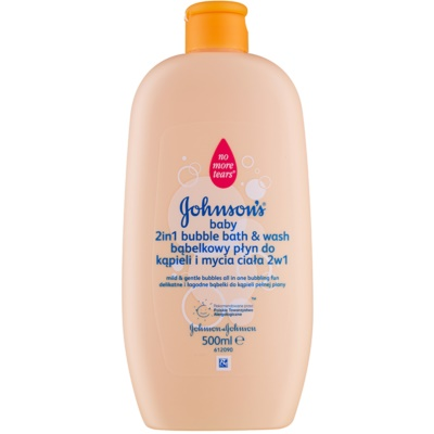 Johnson's Baby Wash and Bath kupka s mjehurićima i gel za kupanje 2 u 1