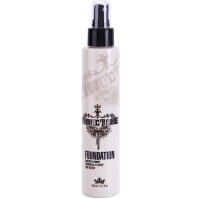 spray previo a la definición del peinado