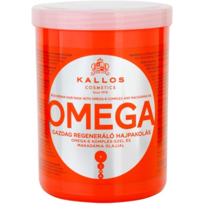 vyživujúca maska na vlasy s omega-6 komplexom a makadamia olejom