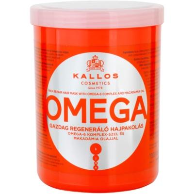 vyživující maska na vlasy s omega-6 komplexem a makadamia olejem
