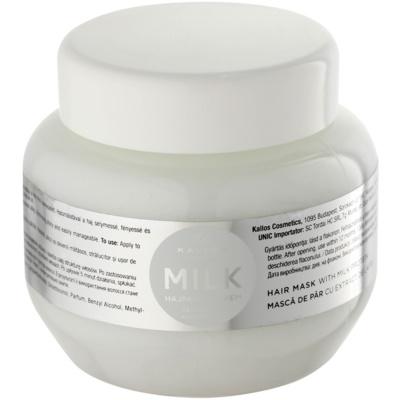 Maske mit Milchproteinen
