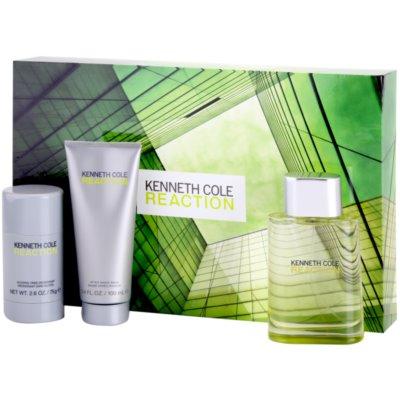 Kenneth Cole Cole Reaction Gift Set VI. Eau De Toilette 100 ml + Aftershave Balm 100 ml + Deodorant Stick 75 g