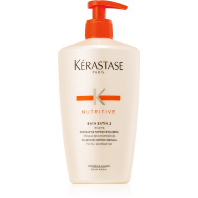 Kérastase Nutritive Bain Satin 2 champô intensamente nutritivo para cabelo seco  500 ml