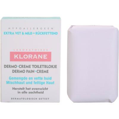 Klorane Dermo Pain Creme savon pour peaux mixtes à grasses