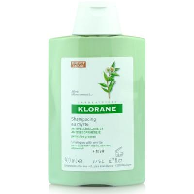 Klorane Myrte szampon przeciw tłustemu łupieżowi