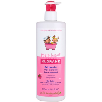 Klorane Junior Shower Gel For Body And Hair With Aromas Of Raspberries