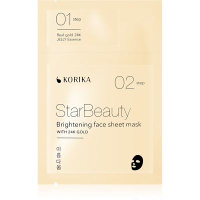 KORIKA StarBeauty Brightening Face Sheet Mask With 24 Carat Gold