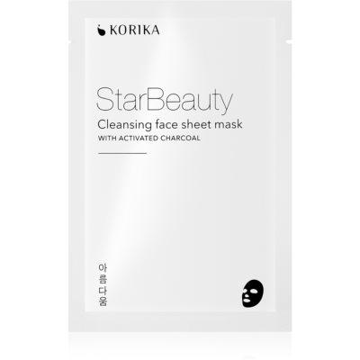 KORIKA StarBeauty maschera detergente in tessuto con carbone attivo