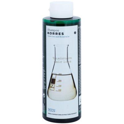 Korres Cystine & Minerals шампунь проти випадіння волосся для чоловіків