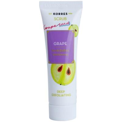 Korres Mask&Scrub Grape scrub βαθιάς απολέπισης