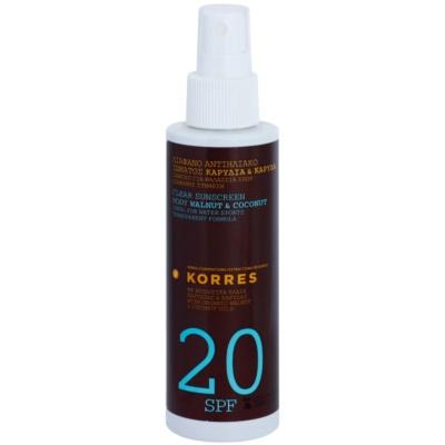 Korres Sun Care Walnut & Coconut Clear Non-Greasy Body Sunscreen SPF 20