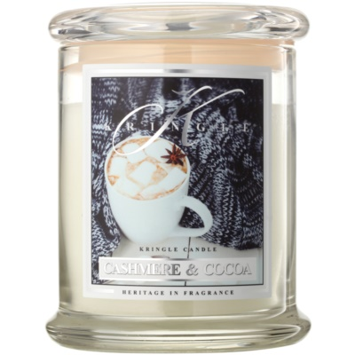 Kringle Candle Cashmere & Cocoa vonná sviečka
