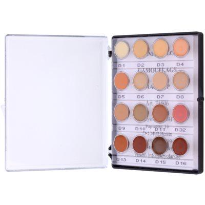 mini paleta krémových korektorů s vysokým krytím 16 barev