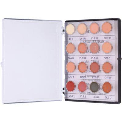 mini paleta krémových korektorov s vysokým krytím 16 farieb