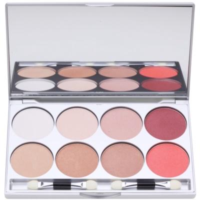 Palette mit Lidschatten in 8 Farben inkl. Spiegel und Pinsel