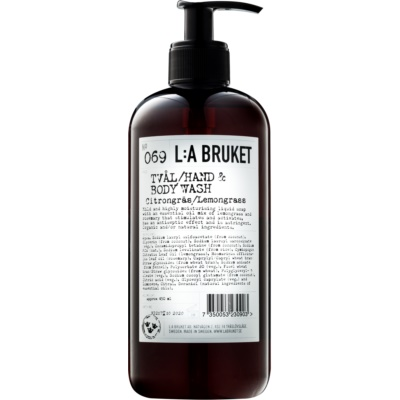 L:A Bruket Body υγρό σαπούνι με λεμονόχορτο για χέρια και σώμα