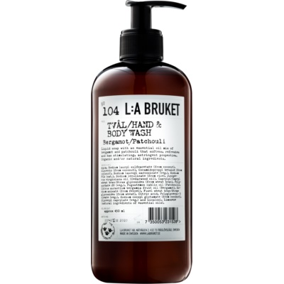 L:A Bruket Body Bergamot and Patchouli Liquid Soap for Hands and Body