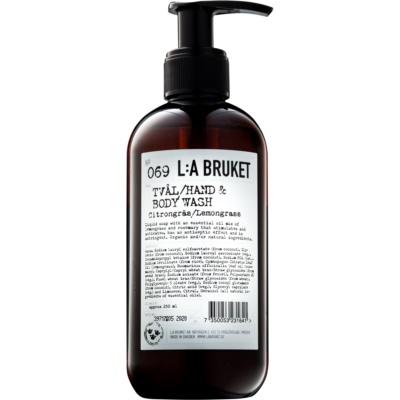 L:A Bruket Body folyékony szappan citromfűvel kézre és testre