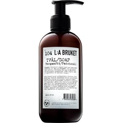 υγρό σαπούνι με περγαμόντο και πατσουλί για χέρια και σώμα