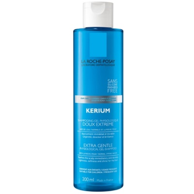 jemný fyziologický gelový šampon pro citlivou pokožku hlavy