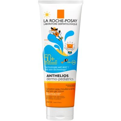 loción en gel protectora para la piel de los bebés SPF 50+