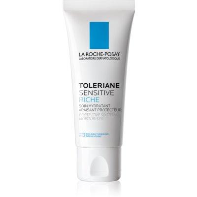 La Roche-Posay Toleriane Sensitive Rich präbiotische feuchtigkeitsspendende Creme zur Empfindlichkeitslinderung der Gesichtshaut