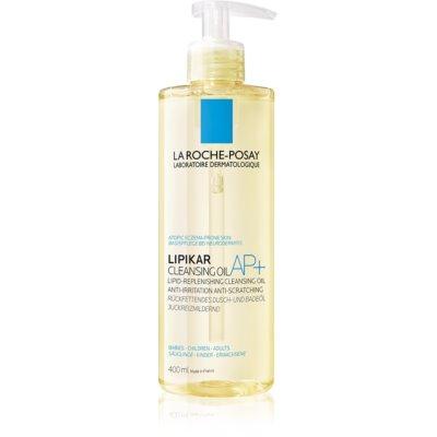 La Roche-Posay Lipikar Huile AP+ Lipid-återfyllande rengörande olja som motverkar irritation