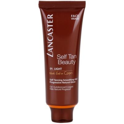 Lancaster Self Tan Beauty gel autobronceador con efecto alisador para el rostro