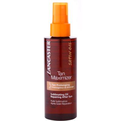 Lancaster Tan Maximizer óleo seco regenerador para prolongar bronzeado para rosto e corpo