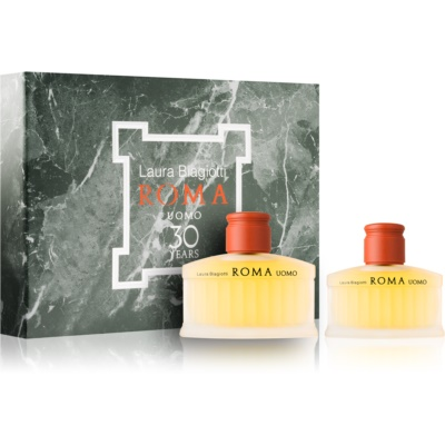 Laura Biagiotti Roma Uomo Gift Set II.  Eau De Toilette 125 ml + Aftershave Balm 75 ml