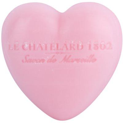 Le Chatelard 1802 Rose & Peony σαπούνι σε σχήμα καρδιάς