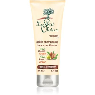 Le Petit Olivier Olive, Shea & Argan après-shampoing pour cheveux secs et abîmés