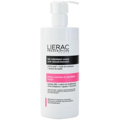leite corporal para peles secas e sensíveis