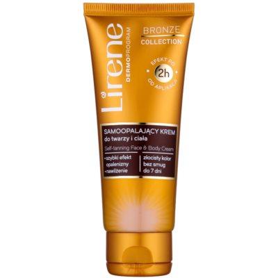 Lirene Body Arabica крем автозасмага  для обличчя та тіла