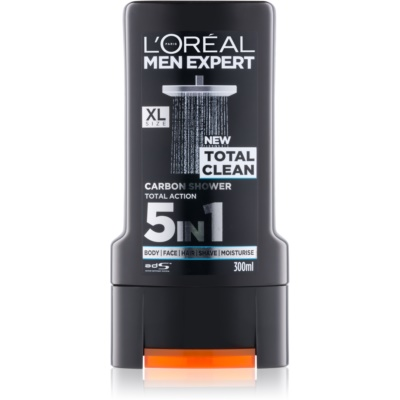 L'Oréal Paris Men Expert Total Clean gel de ducha 5 en 1