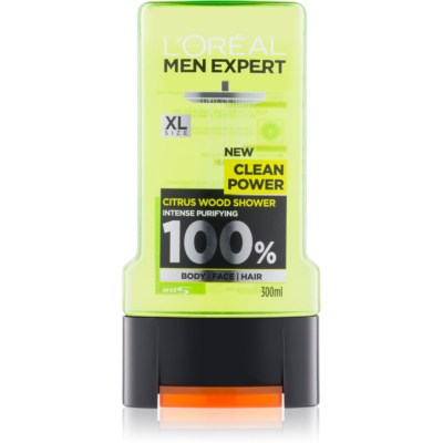 L'Oréal Paris Men Expert Clean Power τζελ για ντους