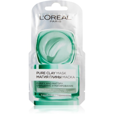 L'Oréal Paris Pure Clay máscara de limpeza matificante