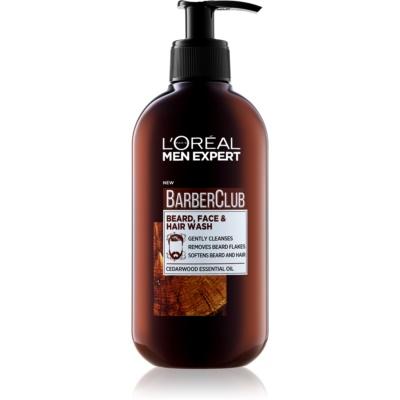 L'Oréal Paris Barber Club почистващ гел за брада, лице и коса