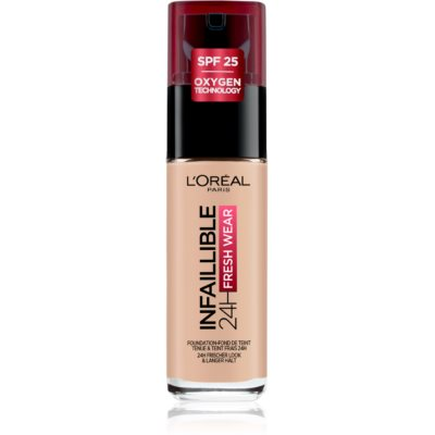 L'Oréal Paris Infaillible Langaanhoudende Vloeibare Make-up  Tint  025 Rose Ivory 30 ml
