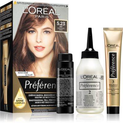 L'Oréal Paris Préférence coloration cheveux teinte 5.23 Chocolate Rose