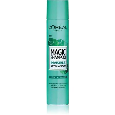 L'Oréal Paris Magic Shampoo Vegetal Boost suhi šampon za volumen las, ki ne pušča belih sledi  200 ml