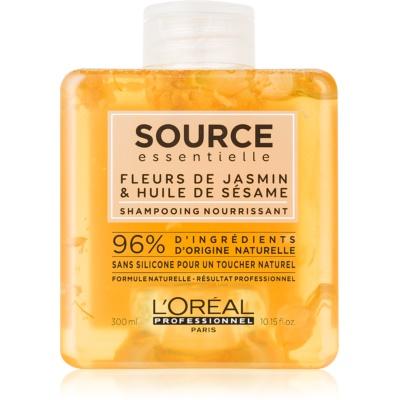 L'Oréal Professionnel Source Essentielle Jasmine Flowers & Sesame Oil tápláló sampon száraz és érzékeny hajra