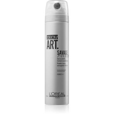 L'Oréal Professionnel Tecni.Art Savage Panache polvo texturizante en spray  para dar fijación y forma