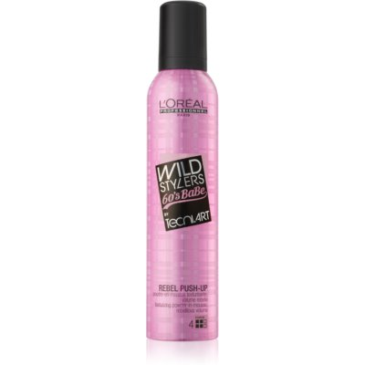 espuma de moldeado para cabello sin volumen