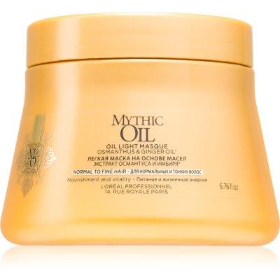 lehká olejová maska pro normální až jemné vlasy
