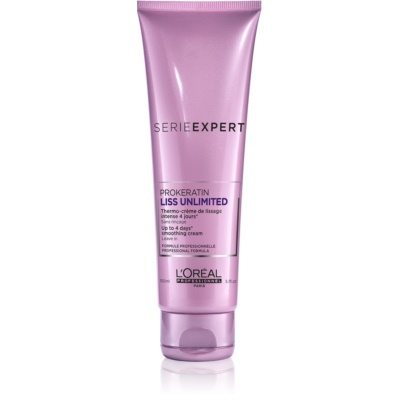 L'Oréal Professionnel Série Expert Liss Unlimited termoochranný krém pro uhlazení nepoddajných vlasů