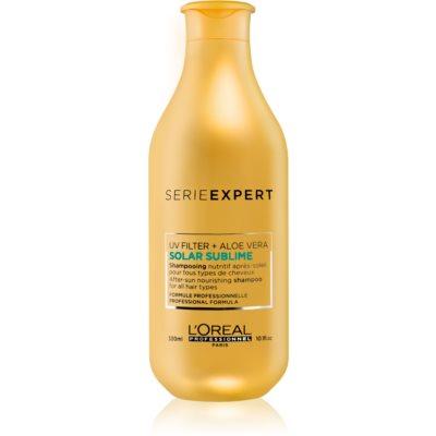 L'Oréal Professionnel Serie Expert Solar Sublime regeneráló sampon nap által károsult haj