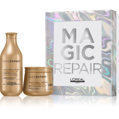 L'Oréal Professionnel Serie Expert Absolut Repair Gold Quinoa + Protein Gift Set I. (For Very Damaged Hair)