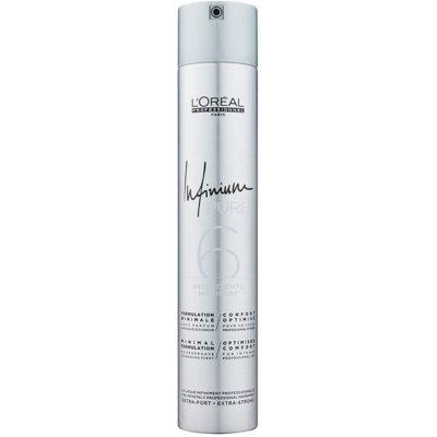 L'Oréal Professionnel Infinium Pure laque cheveux hypoallergénique fixation extra forte