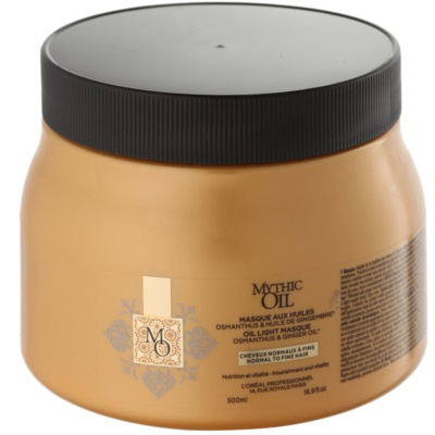 L'Oréal Professionnel Mythic Oil Oil Mask for Normal and Fine Hair  paraben and silicone free  500 ml